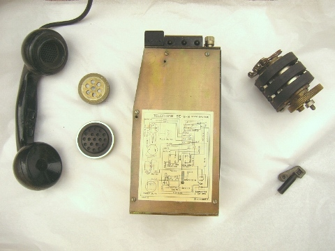Military EE-8 Field Phone & BD-71 Switcboard Parts, Handsets