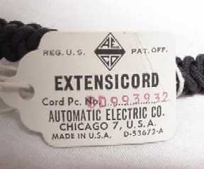 Extensicord Tag, Front View